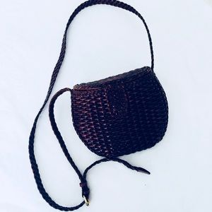 Vintage Brown Straw bag